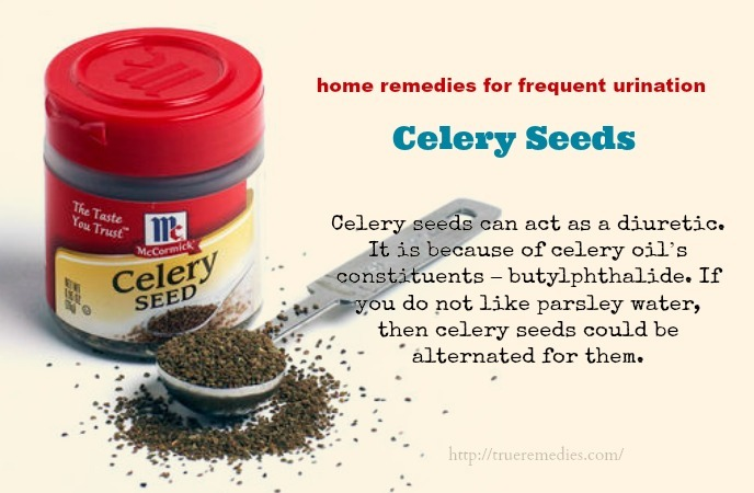 home remedies for frequent urination - celery seeds