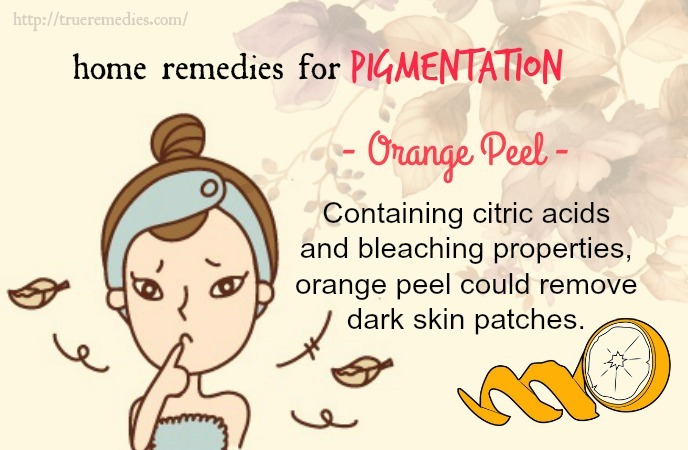 home remedies for pigmentation - orange peel