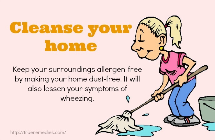 home remedies for wheezing - cleanse your home