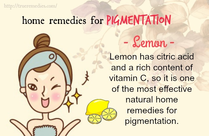 home remedies for pigmentation-lemon