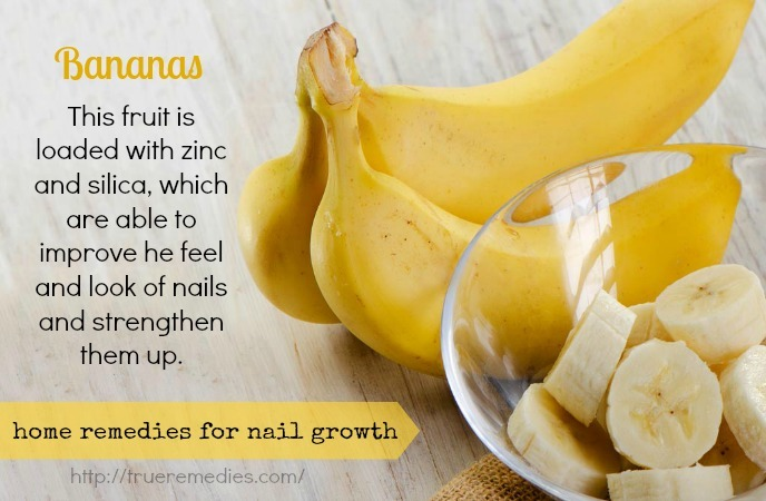 home remedies for nail growth - bananas