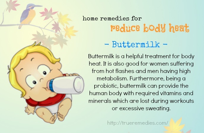 home remedies to reduce body heat-buttermilk