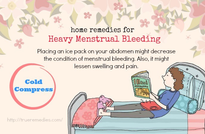 home remedies for heavy menstrual bleeding-cold compress