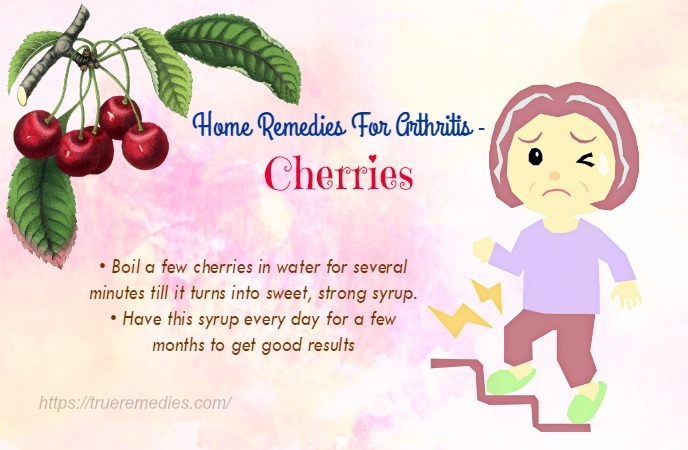 home remedies for arthritis - cherries
