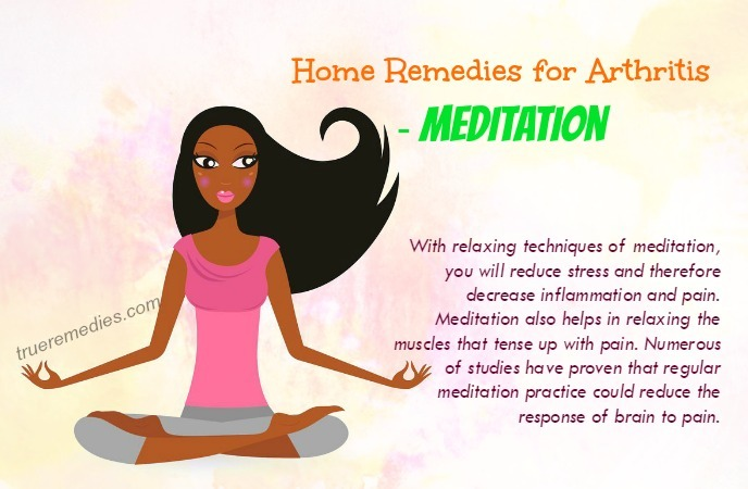 home remedies for arthritis - meditation