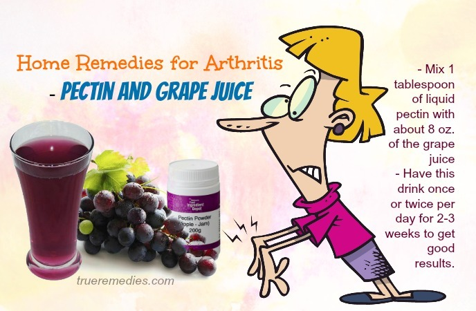 home remedies for arthritis - pectin and grape juice