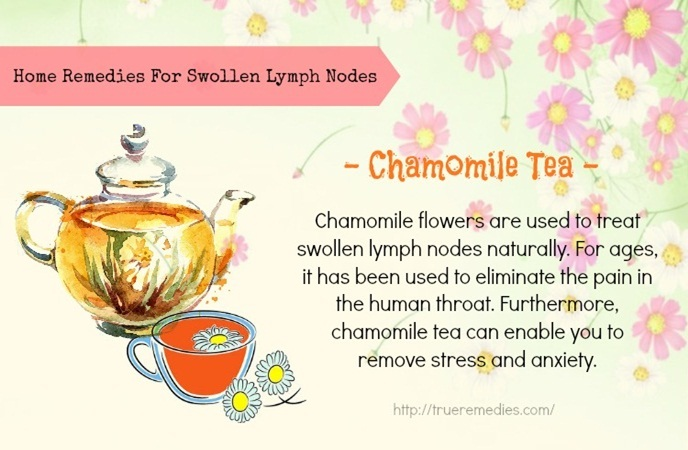 home remedies for swollen lymph nodes - chamomile tea