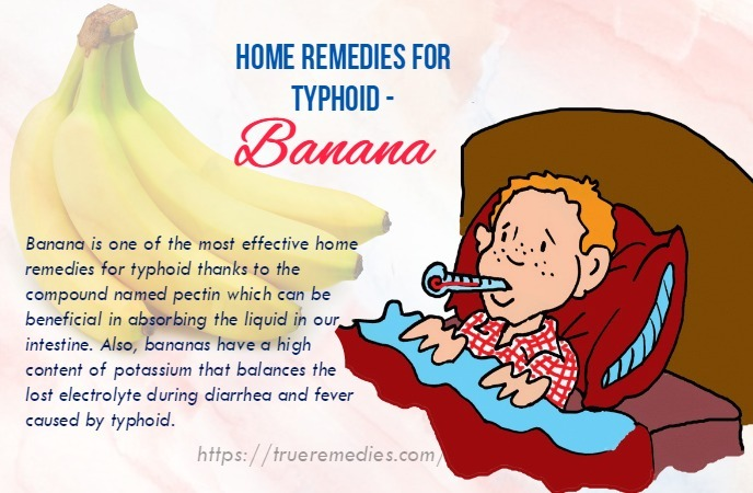 home remedies for typhoid - banana