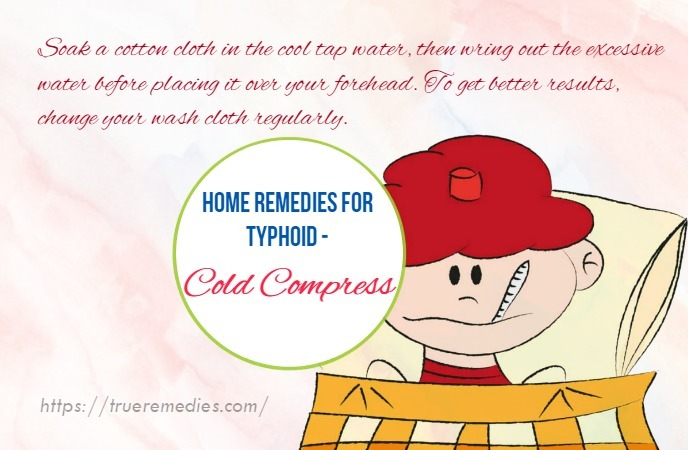 home remedies for typhoid - cold compress