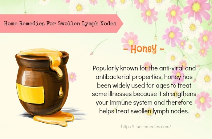 home remedies for swollen lymph nodes-honey