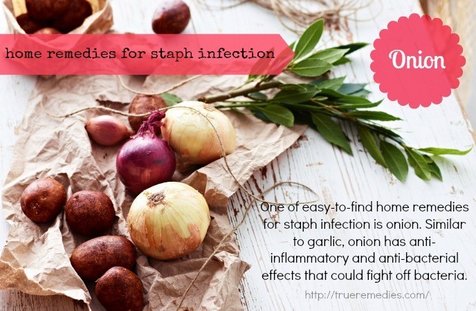 home remedies for staph infection-onion