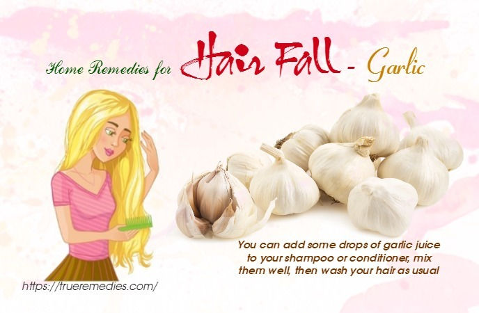 home remedies for hair fall - garlic
