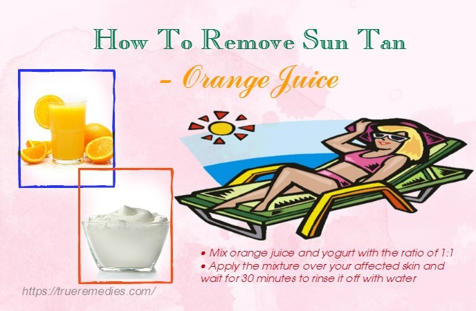 how to remove sun tan