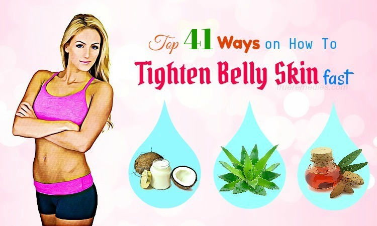 how to tighten belly skin