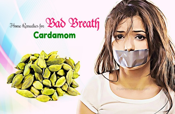 home remedies for bad breath - cardamom
