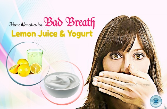 home remedies for bad breath - lemon juice