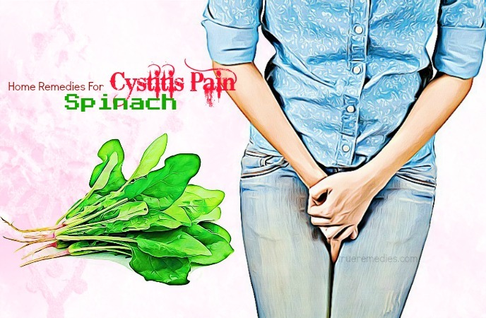 home remedies for cystitis - spinach