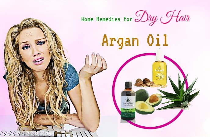 home remedies for dry hair - argan oil