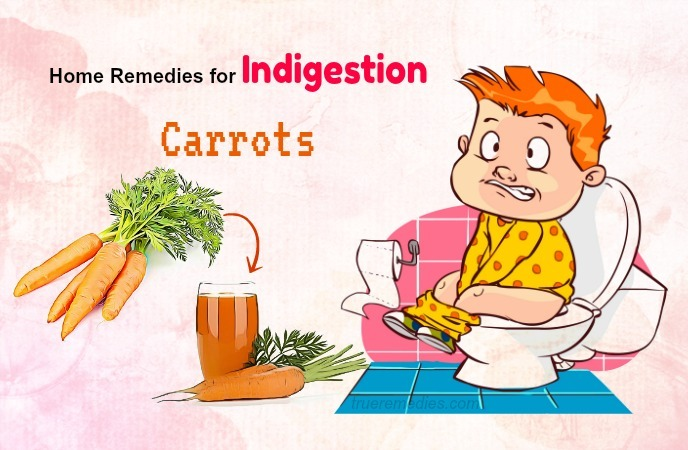 home remedies for indigestion - carrots
