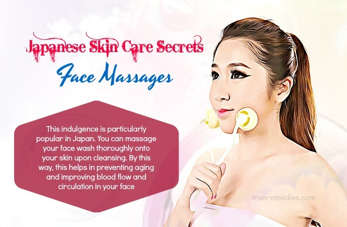 japanese skin care secrets - face massages