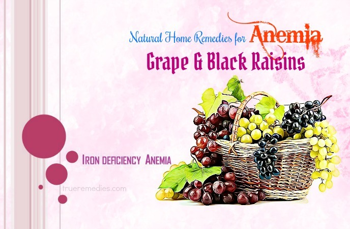 home remedies for anemia - grape and black raisins