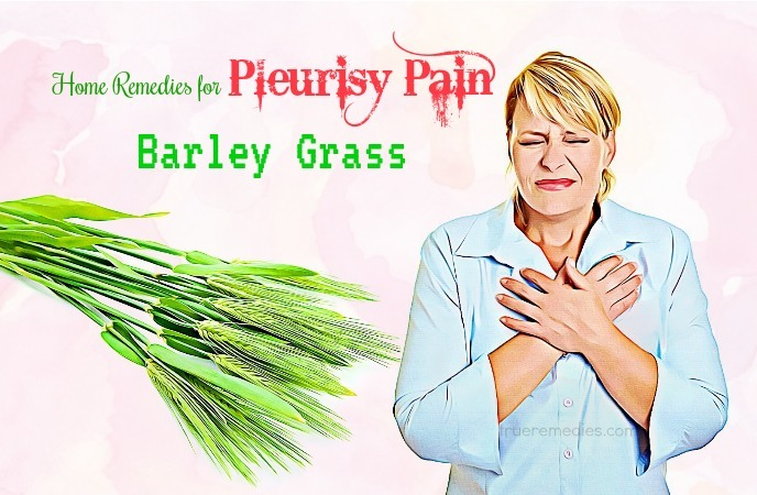 home remedies for pleurisy - barley grass