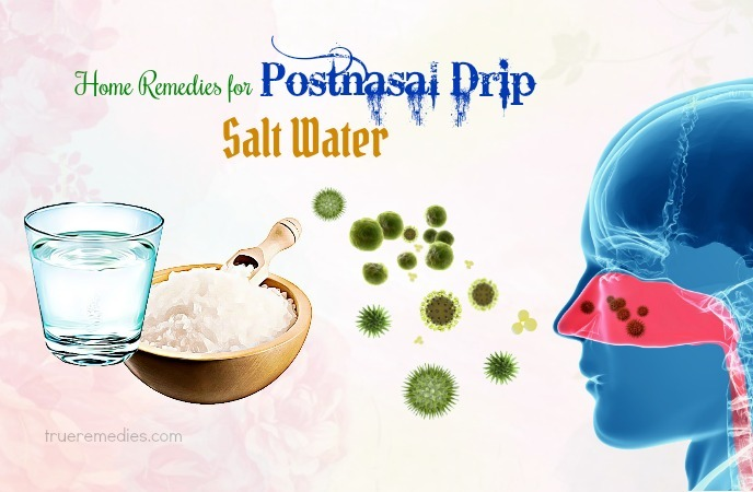 home remedies for postnasal drip