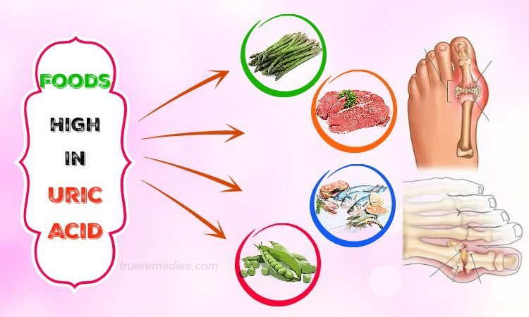 foods high in uric acid