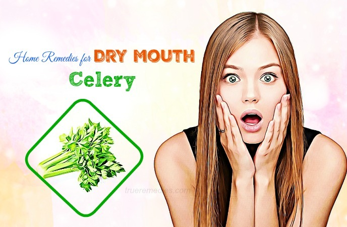 home remedies for dry mouth - celery