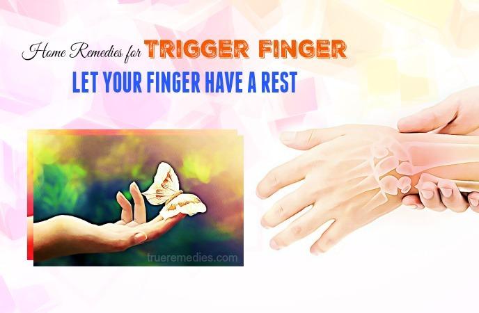 home remedies for trigger finger
