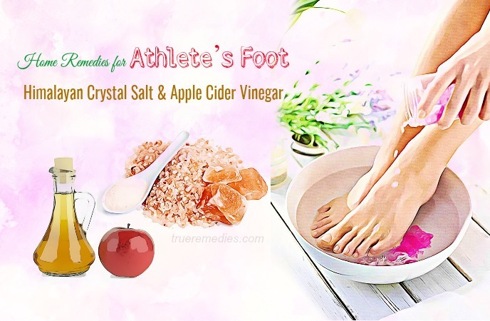 home remedies for athletes foot - himalayan crystal salt and apple cider vinegar