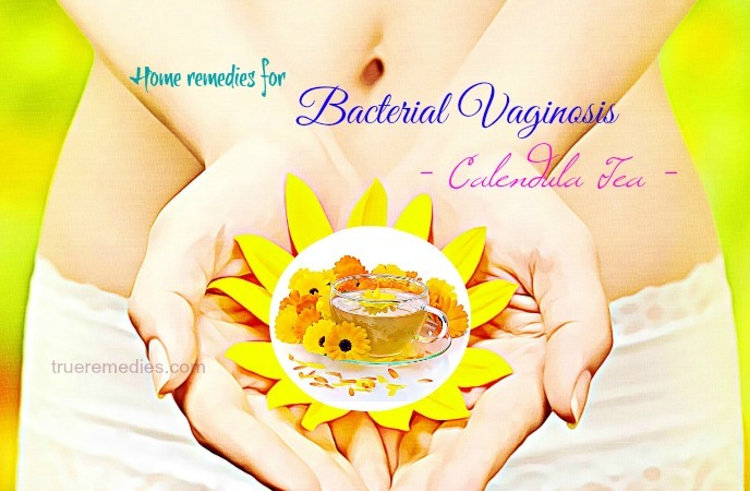 home remedies for bacterial vaginosis - calendula tea