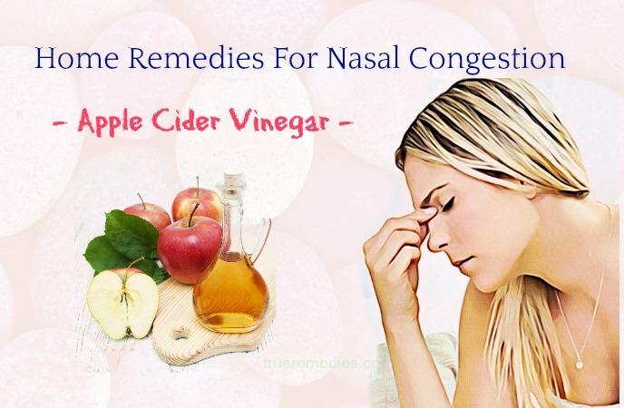 home remedies for nasal congestion- apple cider vinegar