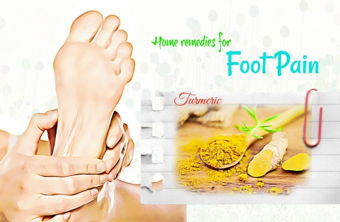home remedies for foot pain- turmeric