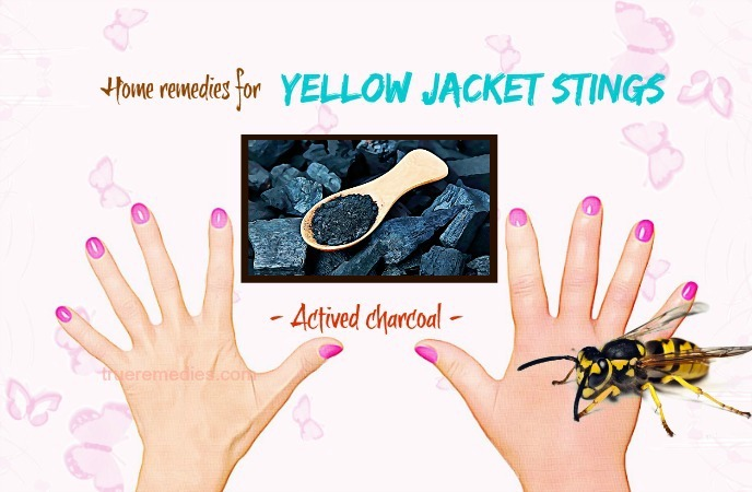 home remedies for yellow jacket stings - actived charcoal