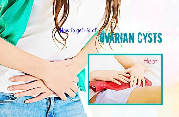 how to get rid of ovarian cysts