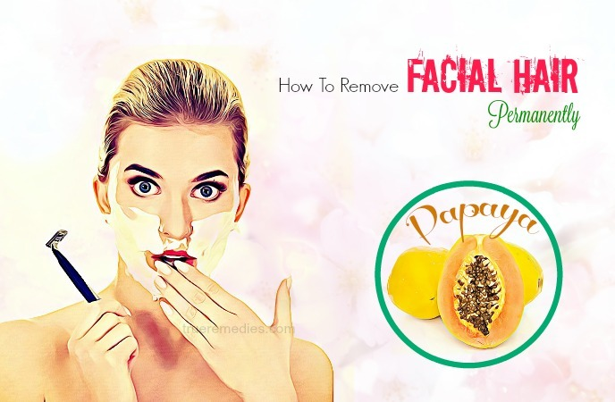 how to remove facial hair permanently