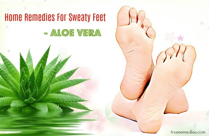 home remedies for sweaty feet - aloe vera