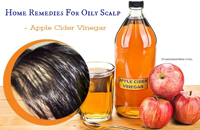 home remedies for oily scalp - apple cider vinegar