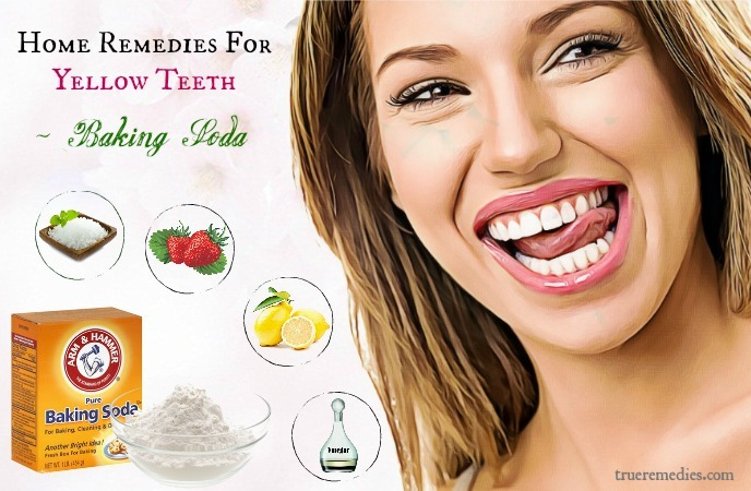 home remedies for yellow teeth - baking soda