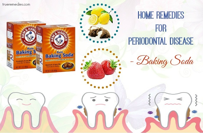 home remedies for periodontal disease - baking soda