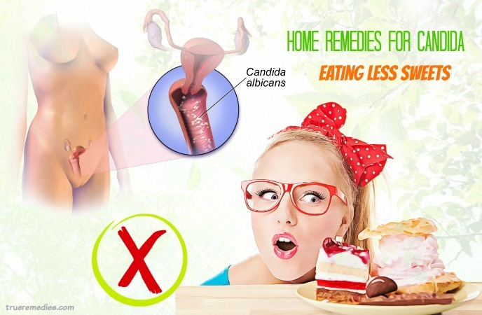 home remedies for candida - eating less sweets