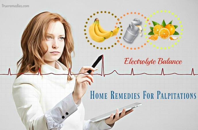 home remedies for palpitations - electrolyte balance