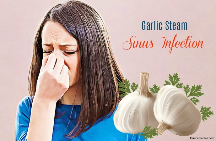 garlic for sinus infection - garlic steam