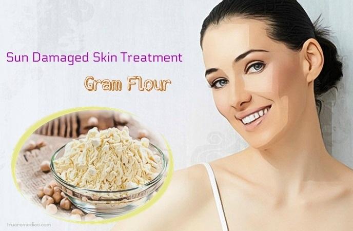 sun damaged skin treatment - gram flour