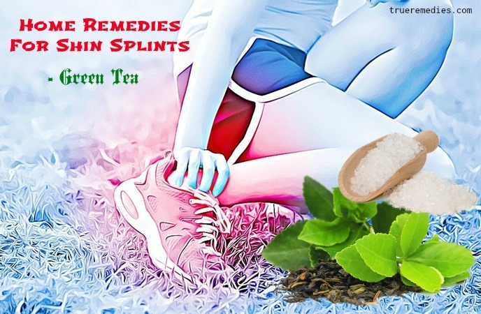 home remedies for shin splints - green tea