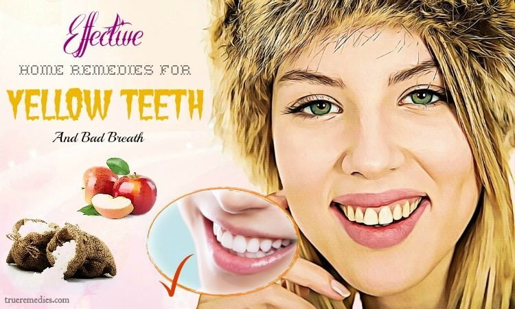 effective home remedies for yellow teeth