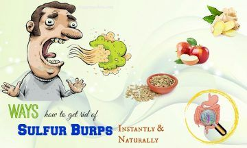 how to get rid of sulfur burps instantly