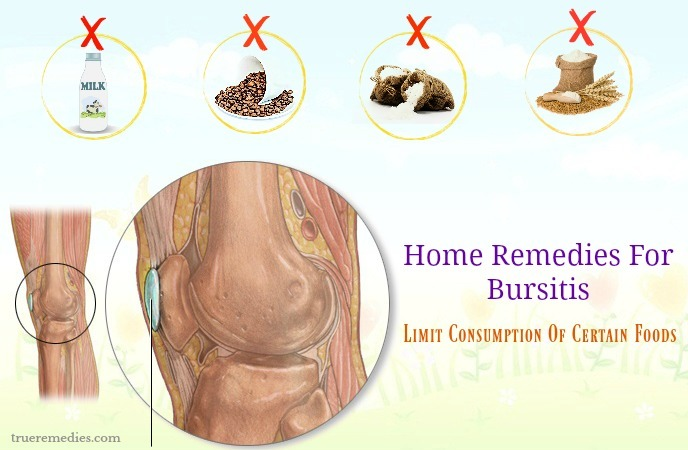 home remedies for bursitis - limit consumption of certain foods