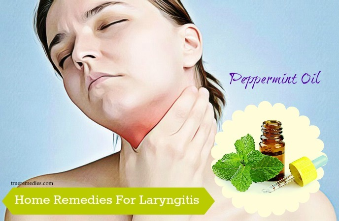 home remedies for laryngitis - peppermint oil